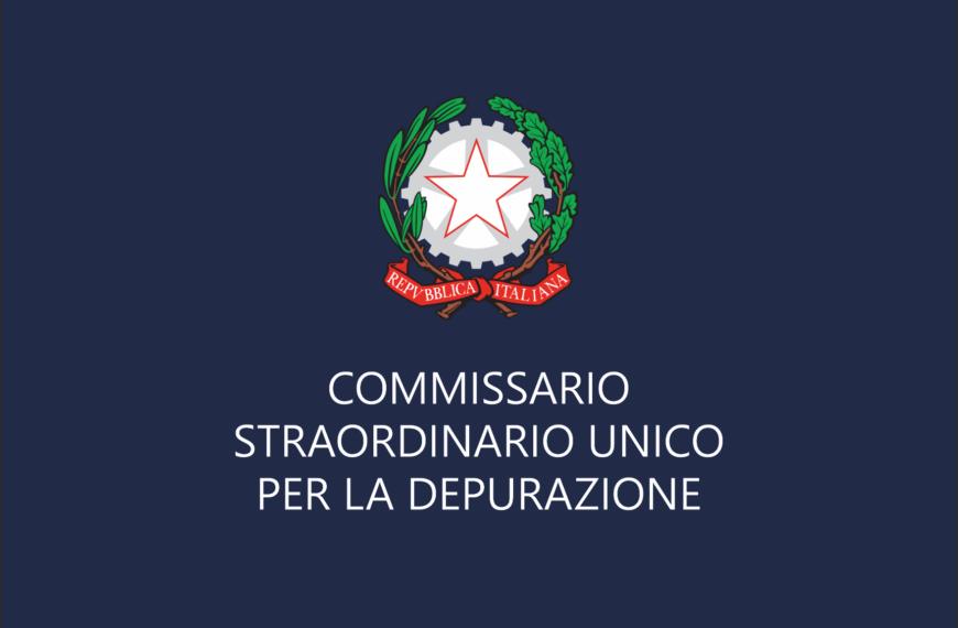 Commissario: ecco il Sistema di Qualificazione per i servizi di progettazione, Albo Fornitori per i lavori